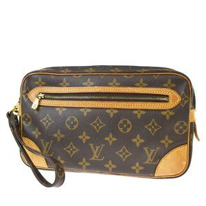 Authentic LOUIS VUITTON Marly Clutch Hand bag